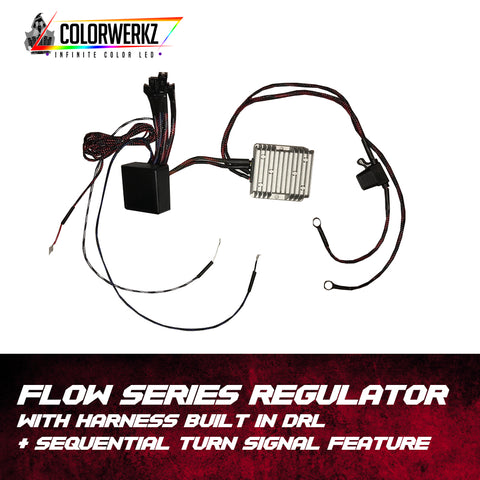 Flow Series Regulator with Harness | Built In DRL & Sequential Turn Signal Feature