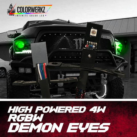 High Powered (4W) RGBW Demon Eyes