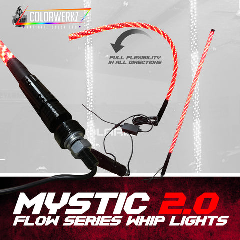 Mystic 2.0 Flow Series Whip Lights