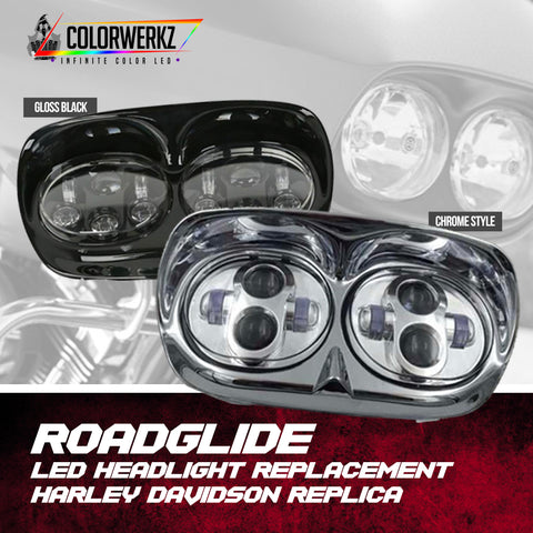 Harley Davidson Replica Roadglide LED Headlights