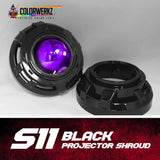 S11 Projector Shrouds (Black or Chrome)