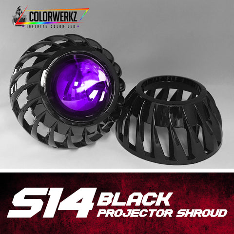S14 Projector Shrouds (Black)