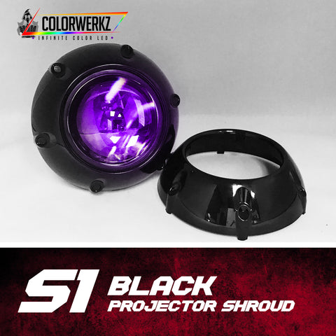 S1 Projector Shrouds (Black or Chrome)