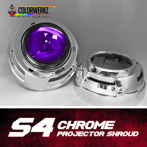 S4 Projector Shrouds (Black or Chrome)
