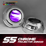 S5 Projector Shrouds (Black or Chrome)