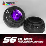 S6 Projector Shrouds (Black or Chrome)