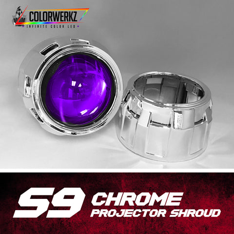 S9 Projector Shrouds (Black or Chrome)