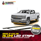 Single-Color (Amber or White) Alumi LED Strips
