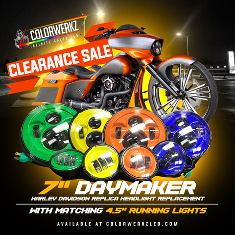 "7"" Daymaker Headlight Replacement with Matching Running Lights (Optional)"