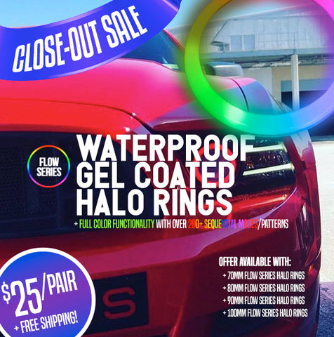 Waterproof Gel Coated Flow Series Halo Rings (Closeout)