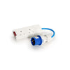 16amp 230V IP44 Plug to 2 x 13amp Socket Conversion Lead