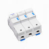 3way (100amp rated) Din Rail Mounted Fuse Carrier