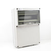 RE117F IP65 Thermo Plastic Enclosure c/w 12MOD Flap & Din Rail / Screw Lid / 360mm x 260mm x 130mm