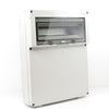 RE119F IP65 Thermo Plastic Enclosure c/w 14MOD Flap & Din Rail / Screw Lid / 440mm x 330mm x 130mm