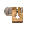 "Earth Rod Clamp 3/8"" Brass (economy)"