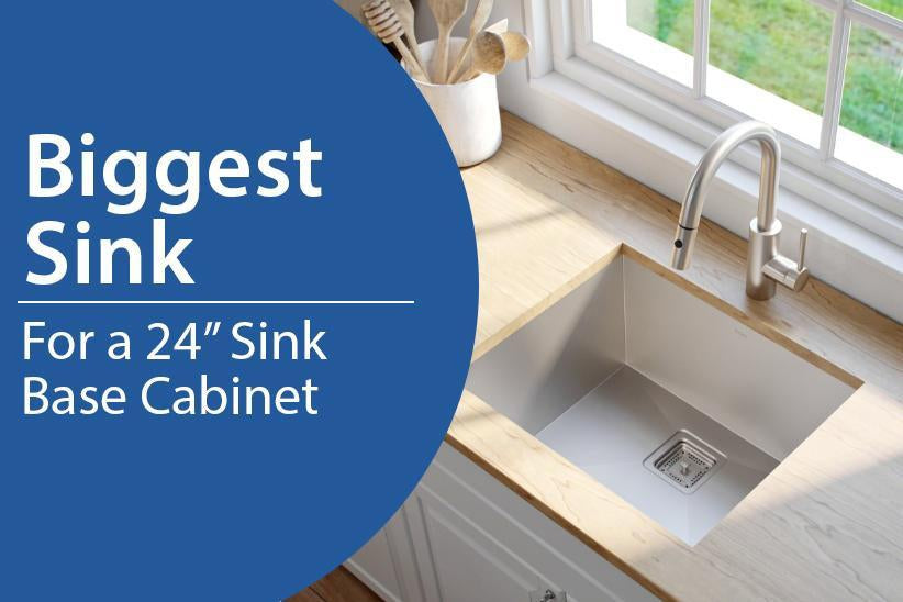 Biggest Sink Possible For A 24 Inch Sink Base Cabinet Largest