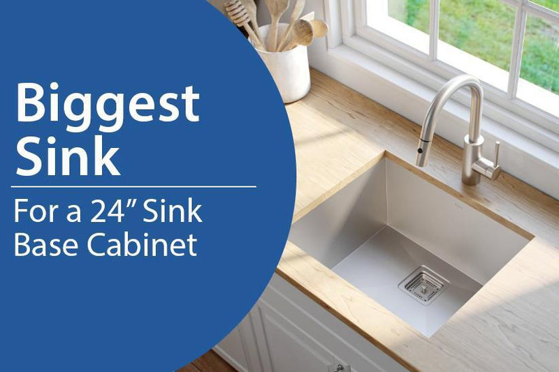 Biggest Sink Possible for a 24 inch Sink Base Cabinet ...
