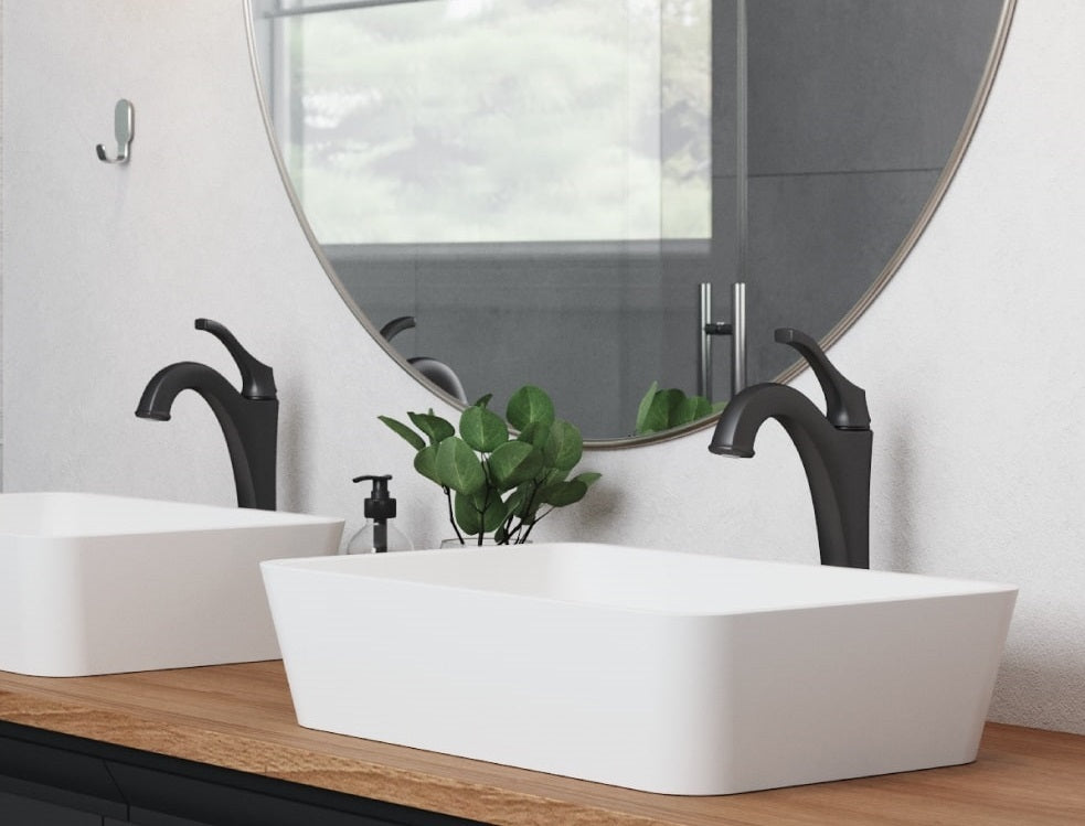 bathroom faucets, bathroom sinks, kraus arlo faucet