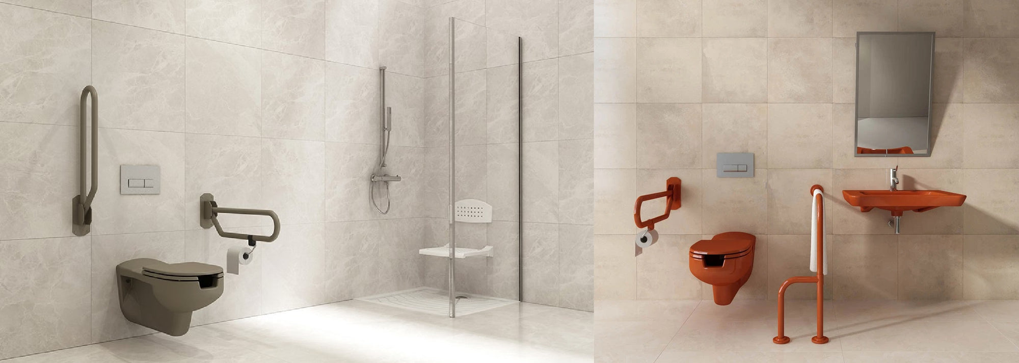 Bocchi Grab Bars providing safety and style with comfort and care