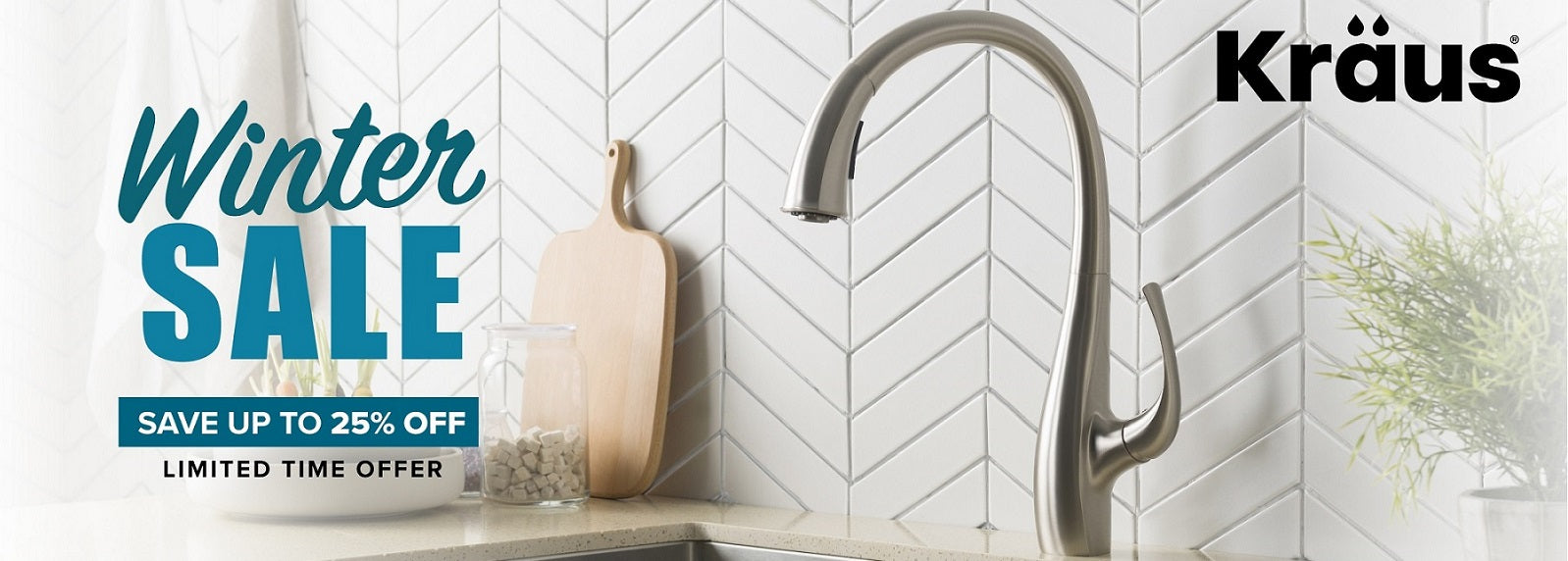 Kraus Winter Sale 25% off, Kraus Sinks Cheap, Kraus Faucets Discounted
