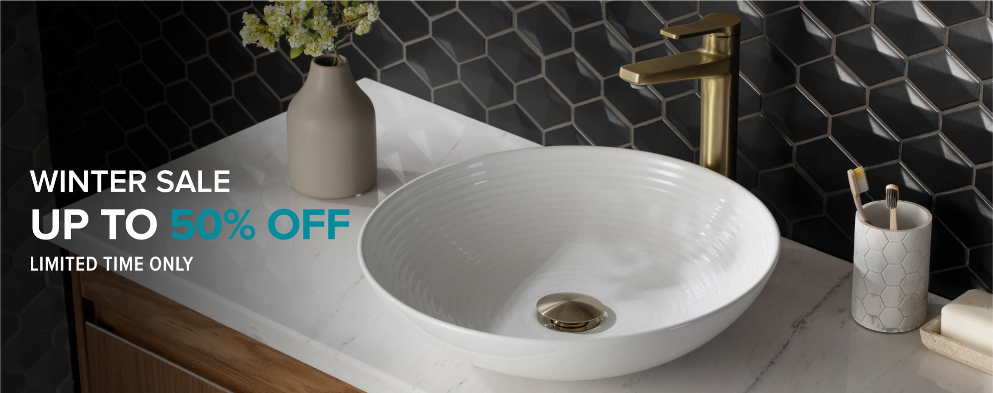 KRAUS Winter Sale on Bathroom Products, up to an additional 50% off
