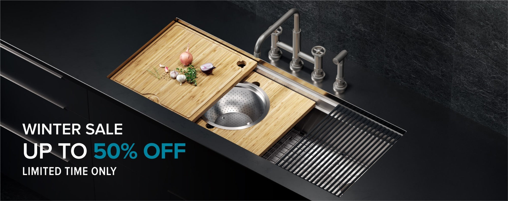 KRAUS winter sale, up to 50% off select KRAUS kitchen and bathroom products