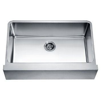 "33"" Straight Apron Single Bowl 16 Gauge Stainless Steel Kitchen Sink-Kitchen Sinks Fast Shipping at DirectSinks."