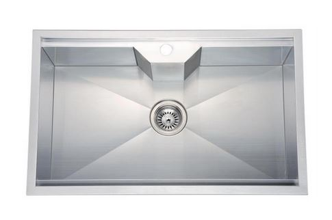 "31"" Single Bowl Dual Mount 18 Gauge Stainless Steel Kitchen Sink-Kitchen Sinks Fast Shipping at DirectSinks."