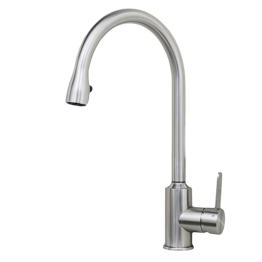 Wells Sinkware Cario 16-Inch All Stainless Steel Lead-Free Pull-Down Kitchen Faucet in Stainless Steel-Kitchen Faucets Fast Shipping at Directsinks.