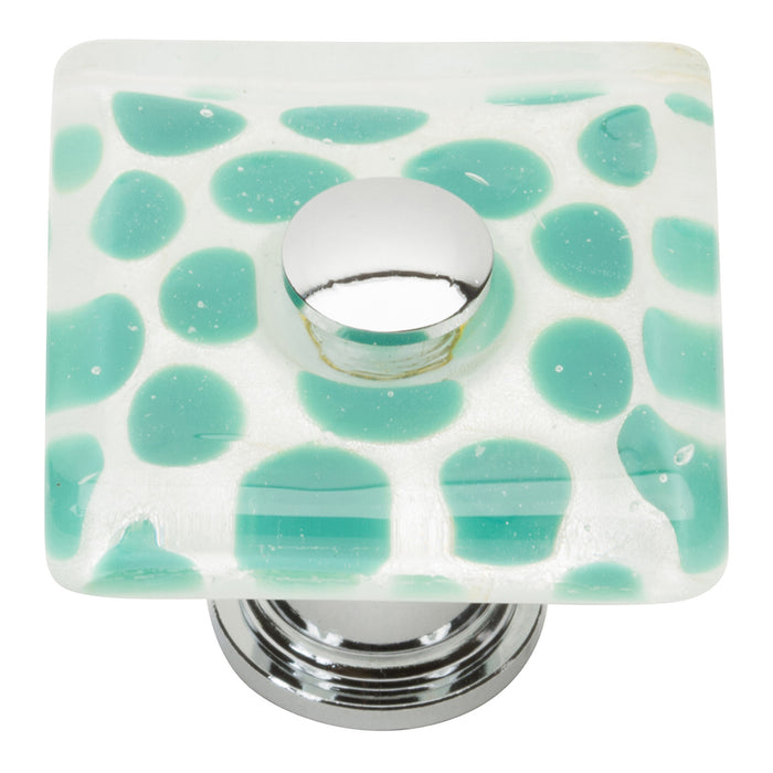 Emerald Polka Dot Glass Knob 1 1/2 Inch, Model number 3228-CH, Atlas Homewares