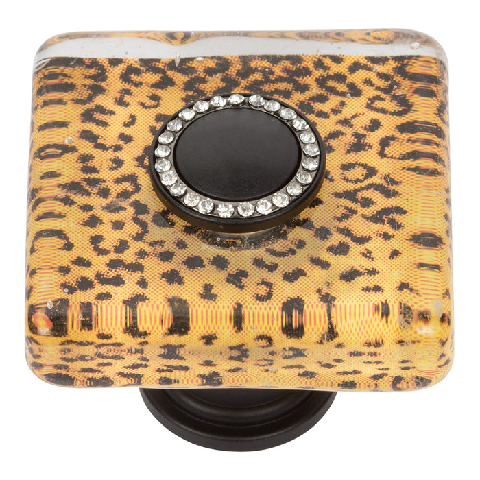 Cheetah SquareGlass Knob