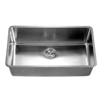 "32"" Undermount 16 Gauge Single Bowl Stainless Steel Kitchen Sink-Kitchen Sinks Fast Shipping at DirectSinks."