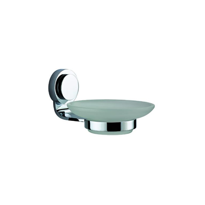 Dawn Glass Soap Dish with Circle Series Holder-Bathroom Accessories Fast Shipping at DirectSinks.