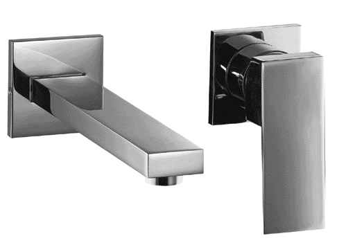 Alfi AB1468 Single Lever Wallmount Bathroom Faucet