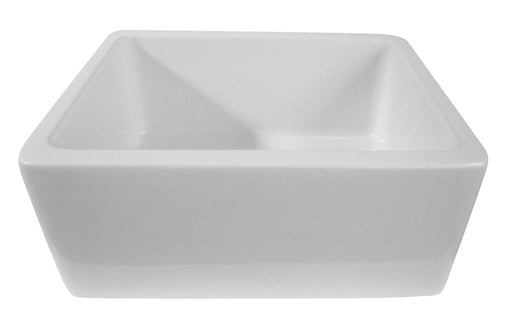 "Alfi 24"" Single Bowl Thick Fireclay Farmhouse Kitchen Sink with Smooth Apron-DirectSinks"