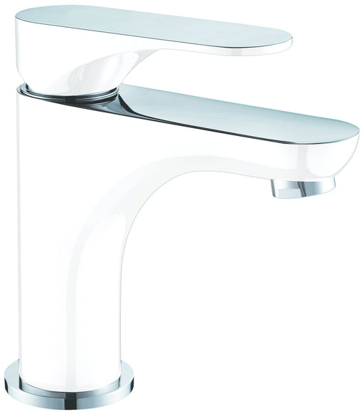Dawn Single Lever Lavatory Faucet in Chrome and White-Bathroom Faucets Fast Shipping at DirectSinks.