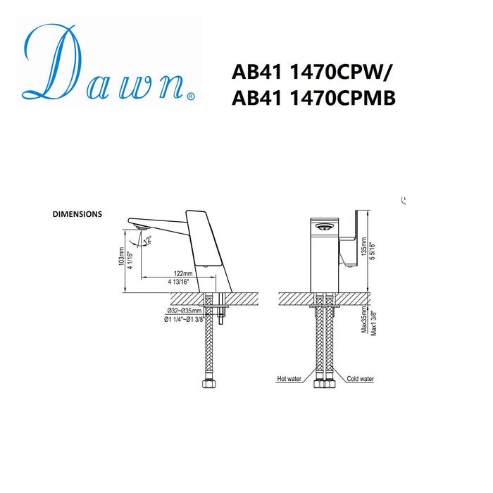 Dawn Single Lever Lavatory Faucet-Bathroom Faucets Fast Shipping at DirectSinks.