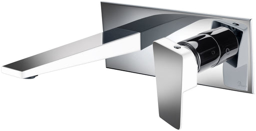 Dawn Wall Mounted Single Lever Concealed Washbasin Mixer in Chrome and White-Bathroom Faucets Fast Shipping at DirectSinks.