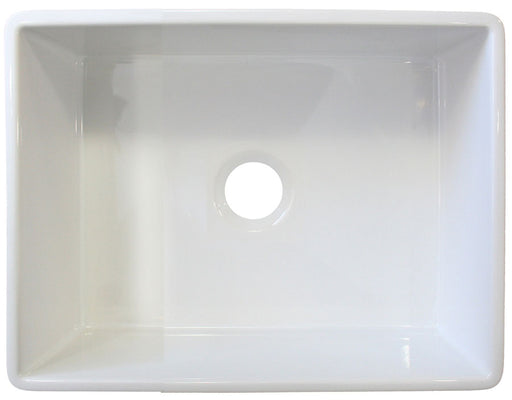 "ALFI brand AB505 26"" Contemporary Smooth Fireclay Farmhouse Kitchen Sink"