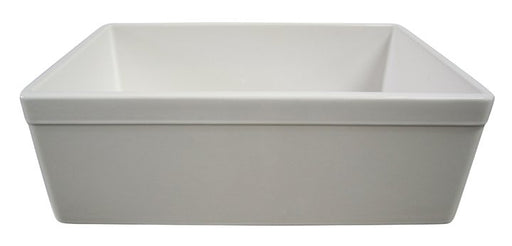 "ALFI brand AB511 30"" Decorative Lip Apron Single Bowl Fireclay Farmhouse Kitchen Sink-DirectSinks"