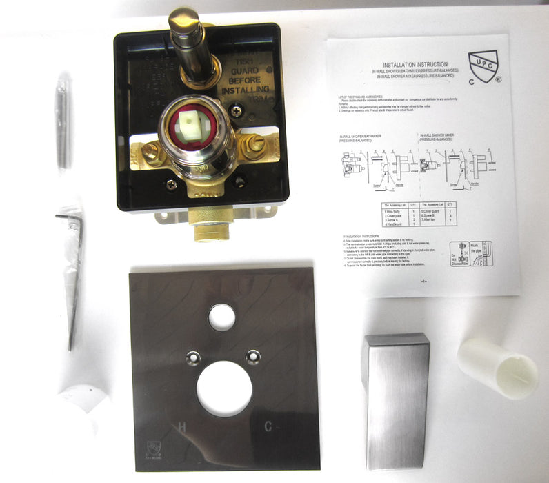 Alfi AB5601 Shower Valve Mixer with Square Lever Handle and Diverter