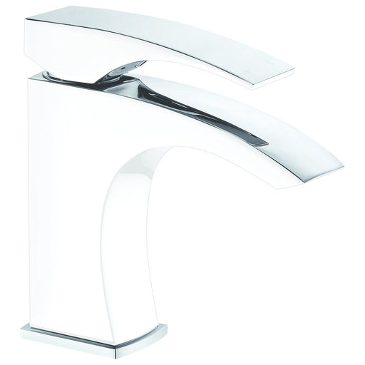 Dawn Solid Brass Single Lever Lavatory Faucet in Chrome and White-Bathroom Faucets Fast Shipping at DirectSinks.
