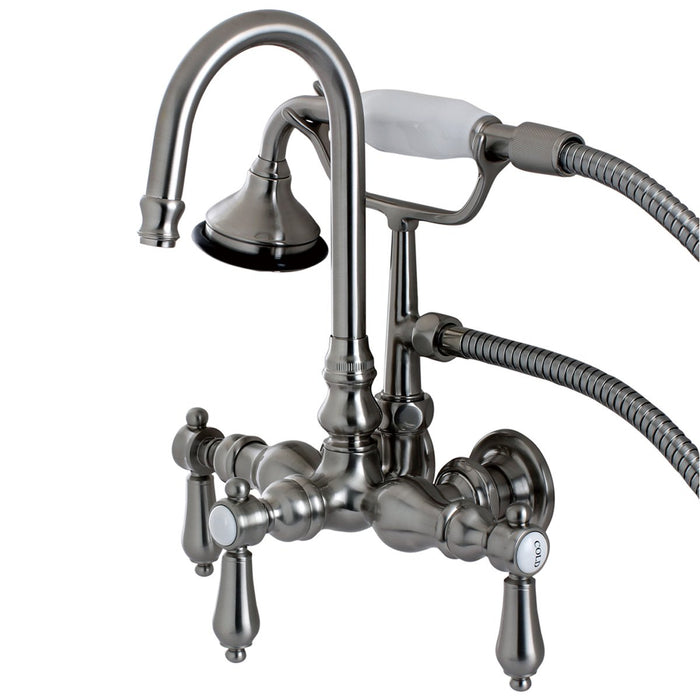 Kingston Brass Aqua Eden Bel Air Wall Mount Clawfoot Tub Faucet-Tub Faucets-Free Shipping-Directsinks.