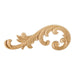 "Hardware Resources 10-5/8"" x 1/4"" x 4"" Hard Maple Acanthus Applique-DirectSinks"