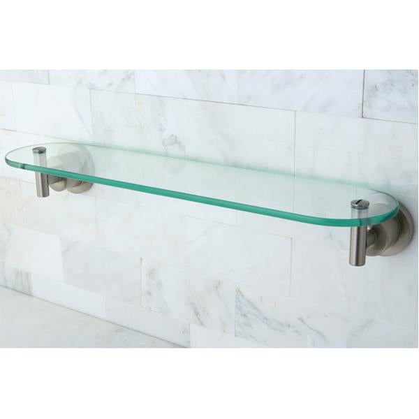 Kingston Brass Concord Glass Shelf in Satin Nickel-Bathroom Accessories-Free Shipping-Directsinks.