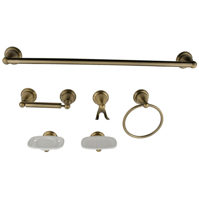 Kingston Brass Heritage 6 Piece Bathroom Accessory Set-Bathroom Accessories-Free Shipping-Directsinks.