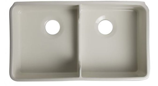 "ALFI brand AB5123 32"" Short Wall Double Bowl Lip Apron Fireclay Farmhouse Kitchen Sink-DirectSinks"