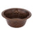 "Premier Copper Products 16"" Round Copper Bar Sink with Fleur De Lis and 2"" Drain Size-DirectSinks"