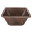 "Premier Copper Products 17"" Large Square Hammered Copper Bar/Prep Sink-DirectSinks"