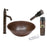 Premier Copper Products - BSP1_VR15WDB Vessel Sink, Faucet and Accessories Package-DirectSinks